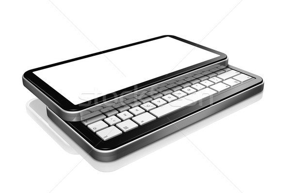 3D mobile phone, pda isolated on white Stock photo © daboost