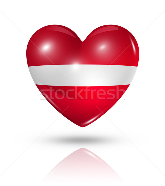 Liefde Letland hart vlag icon symbool Stockfoto © daboost