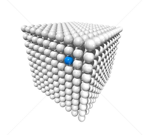Kubus bollen geïsoleerd witte Blauw Stockfoto © daboost