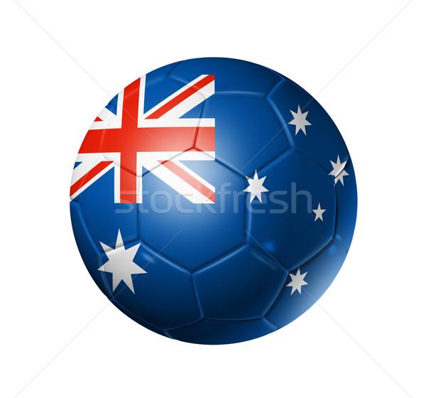 Voetbal voetbal bal Australië vlag 3D Stockfoto © daboost