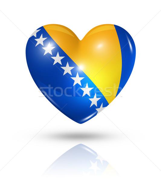 Amor Bosnia Herzegovina corazón bandera icono símbolo Foto stock © daboost