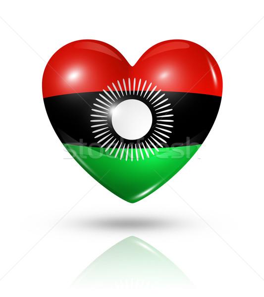 Liefde Malawi hart vlag icon symbool Stockfoto © daboost