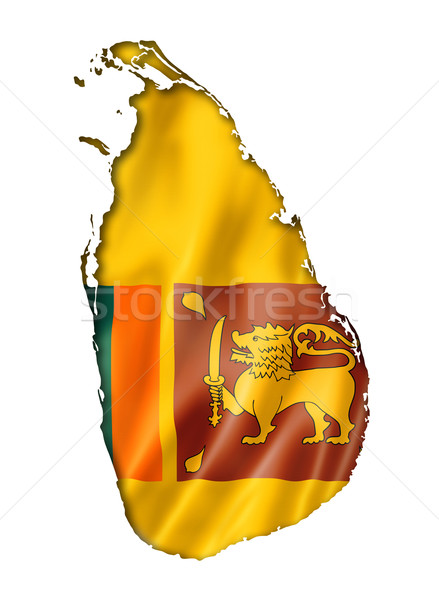 Sri Lanka flag map Stock photo © daboost