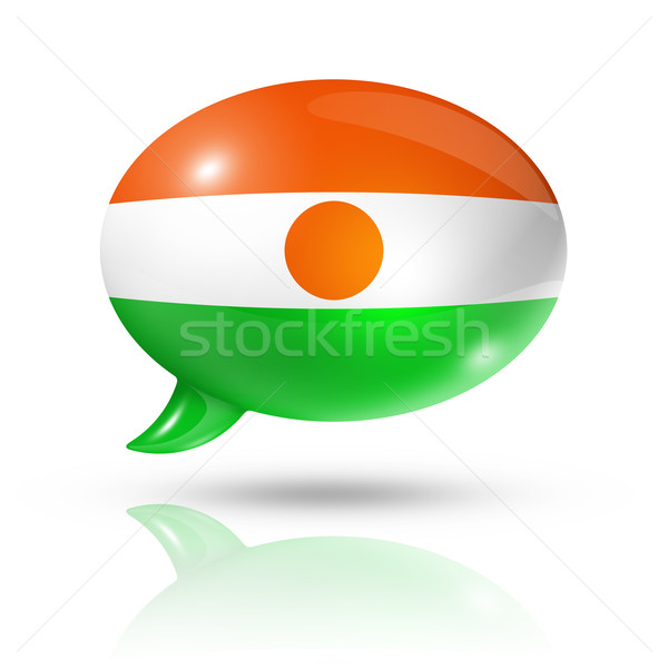 Niger flag speech bubble Stock photo © daboost