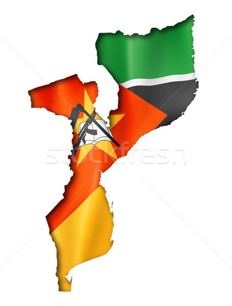 Moçambique bandeira mapa tridimensional tornar isolado Foto stock © daboost