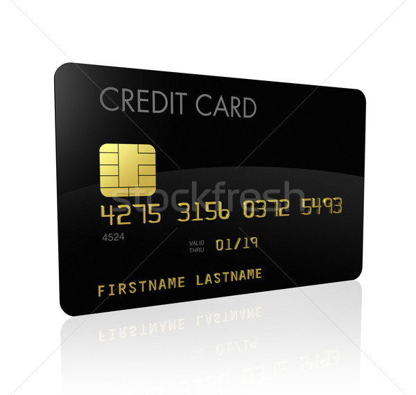 Black credit card Stock photo © daboost