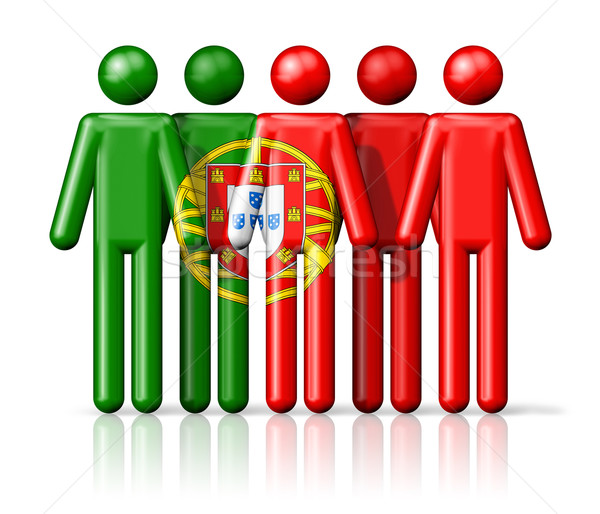 Vlag Portugal sociale gemeenschap symbool Stockfoto © daboost