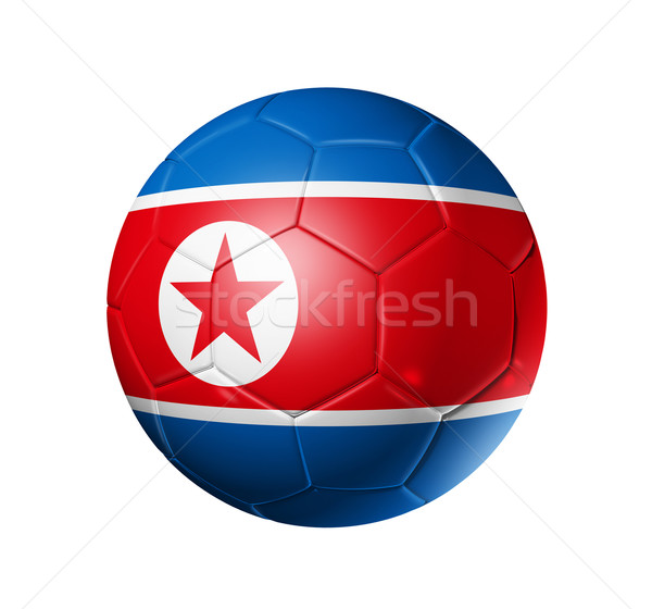 Voetbal voetbal bal noorden vlag 3D Stockfoto © daboost