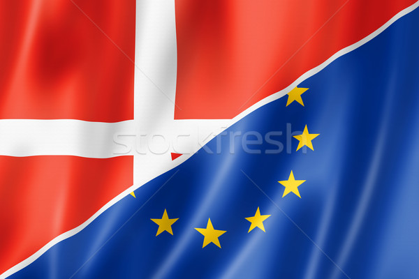 Denmark and Europe flag Stock photo © daboost