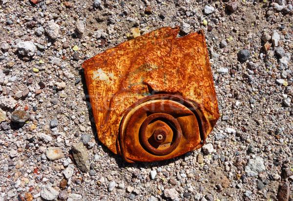 Edad Rusty aerosol polvoriento fondo metal Foto stock © daboost