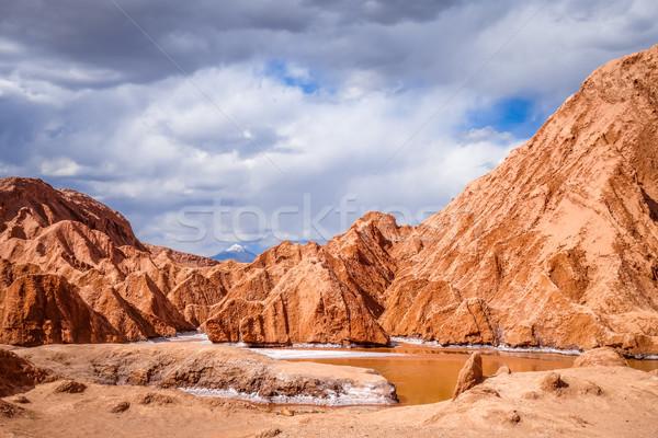 LA Chile tájkép sivatag kék piros Stock fotó © daboost