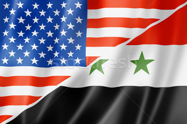 EUA Síria bandeira misto tridimensional tornar Foto stock © daboost