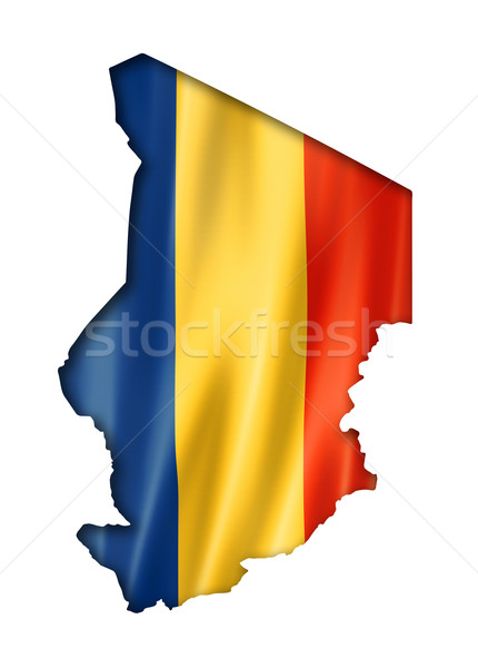 Chad flag map Stock photo © daboost