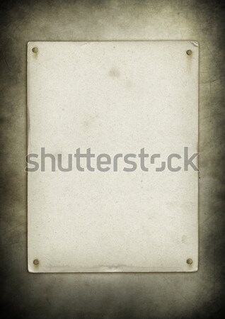 Blank vintage poster nailed on a white wood board Stock photo © daboost