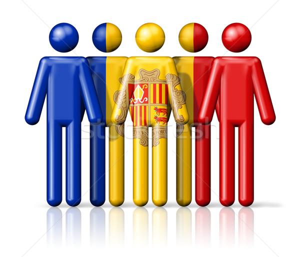Vlag Andorra sociale gemeenschap symbool Stockfoto © daboost