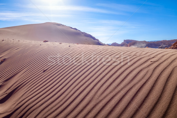 песок пейзаж облака пустыне синий Сток-фото © daboost