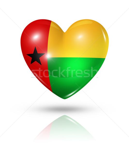 Love Guinea Bissau, heart flag icon Stock photo © daboost