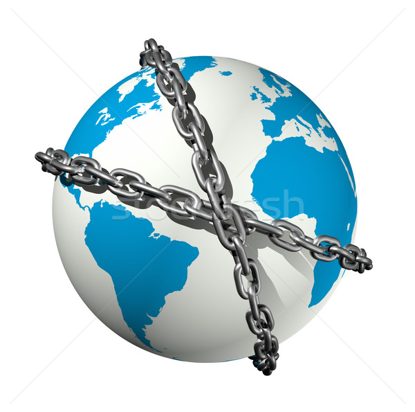 chained world globe Stock photo © daboost