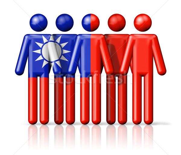Bayrak Tayvan sosyal topluluk simge Stok fotoğraf © daboost