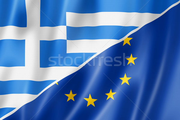 Greece and Europe flag Stock photo © daboost