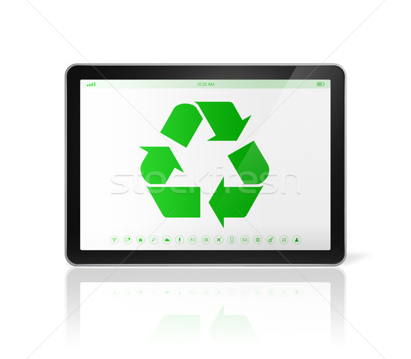 Digital reciclar símbolo Screen ambiental Foto stock © daboost