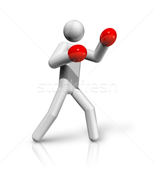Boxing 3D symbol Stock photo © daboost