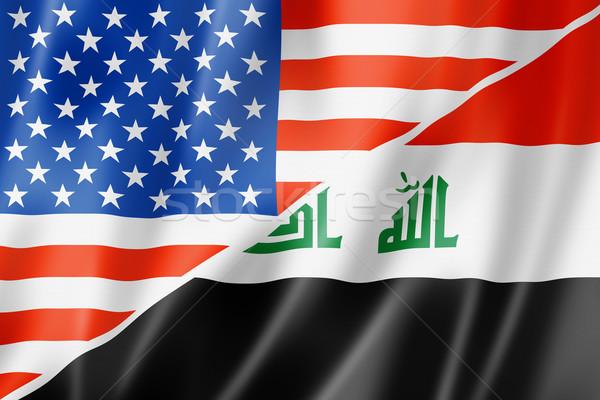 USA Irak vlag gemengd geven Stockfoto © daboost