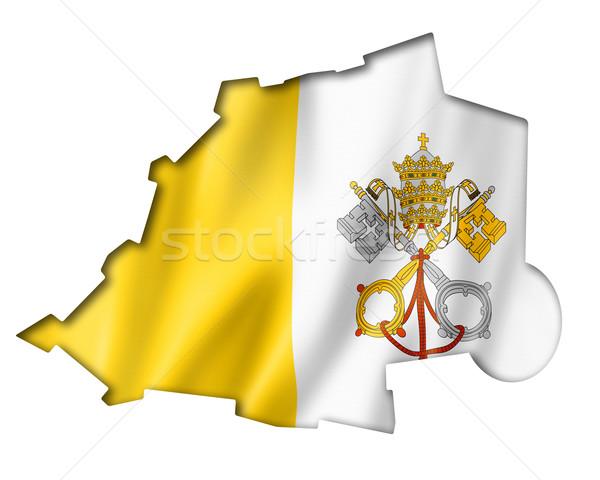 Ватикан флаг карта оказывать изолированный Сток-фото © daboost