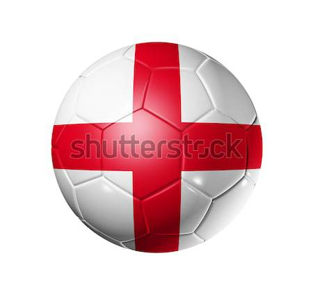 Voetbal voetbal bal Engeland vlag 3D Stockfoto © daboost