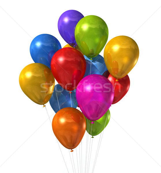 multi colored balloons group isolated on white Stock photo © daboost