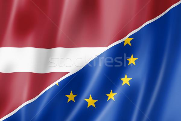 Latvia and Europe flag Stock photo © daboost