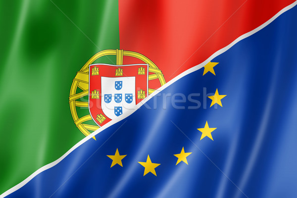 Portugal and Europe flag Stock photo © daboost