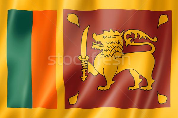 Шри Ланка флаг оказывать атласных текстуры Сток-фото © daboost