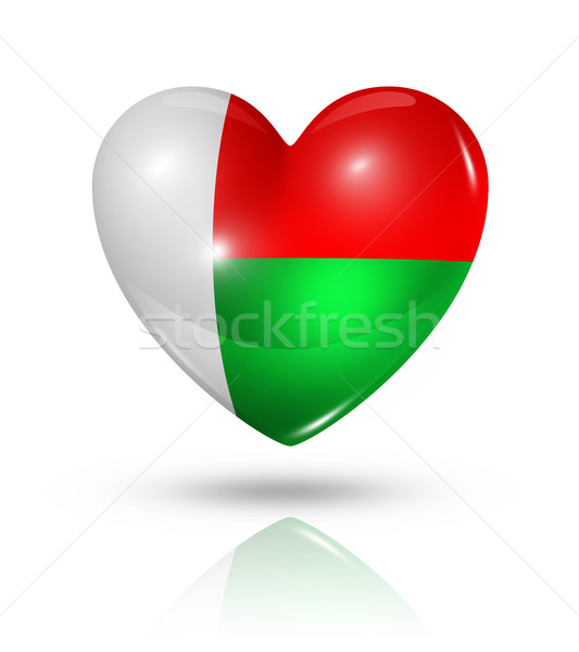 любви Мадагаскар сердце флаг икона символ Сток-фото © daboost