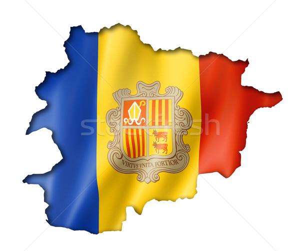 Vlag kaart Andorra geven geïsoleerd Stockfoto © daboost