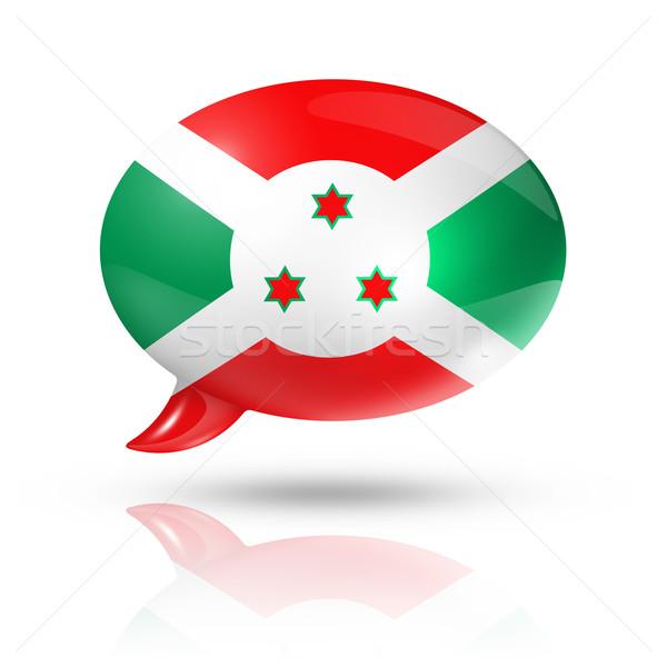 Burundian flag speech bubble Stock photo © daboost