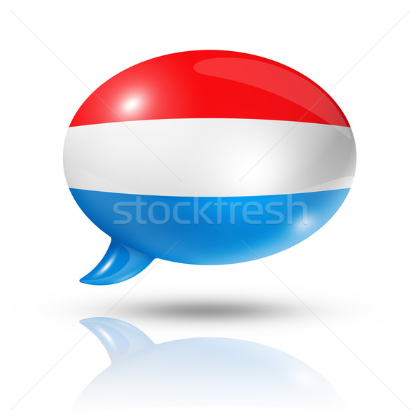 Luxembourg flag speech bubble Stock photo © daboost