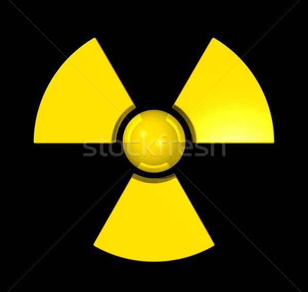 3D radioativo símbolo isolado preto abstrato Foto stock © daboost