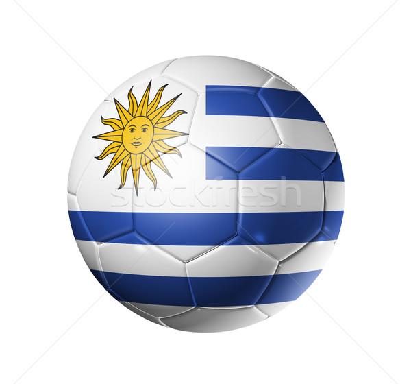 Voetbal voetbal bal Uruguay vlag 3D Stockfoto © daboost