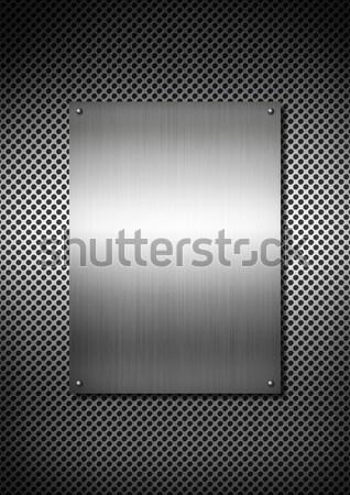 Srebrny tekstury metalu tablicy aluminium sieci tekstury Zdjęcia stock © daboost