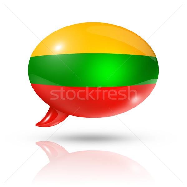 Lithuanian flag speech bubble Stock photo © daboost