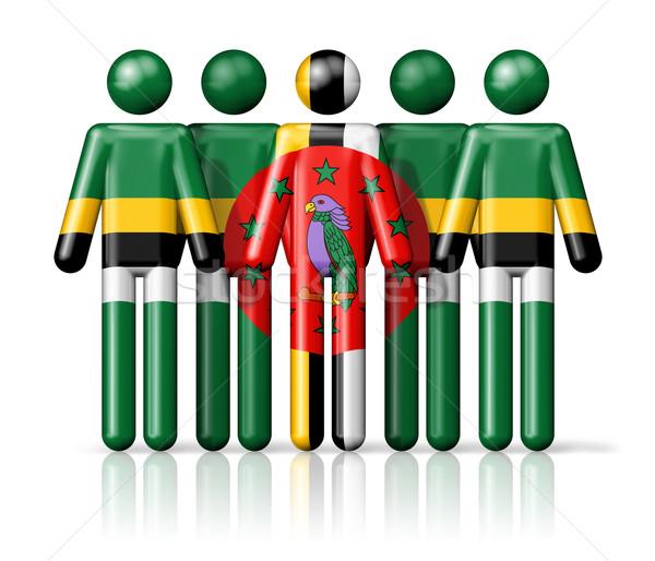 Vlag Dominica sociale gemeenschap symbool Stockfoto © daboost