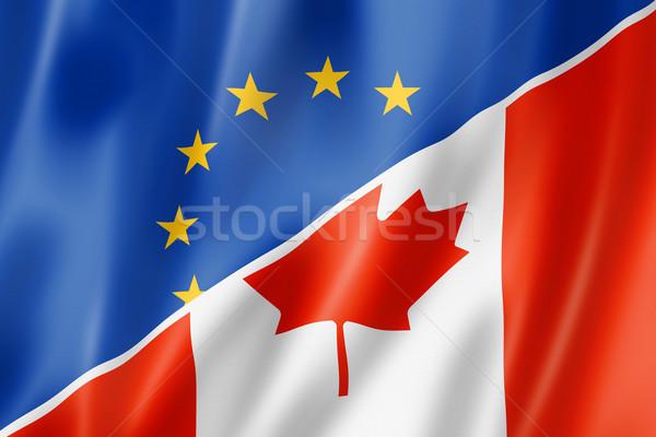 Европа Канада флаг смешанный оказывать Сток-фото © daboost