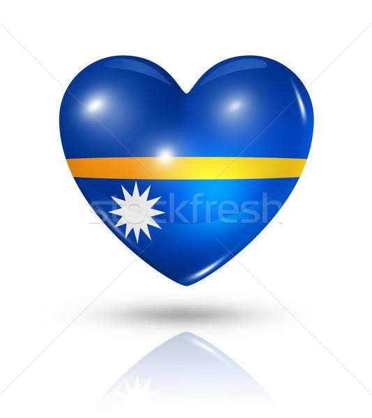Amor Nauru corazón bandera icono símbolo Foto stock © daboost