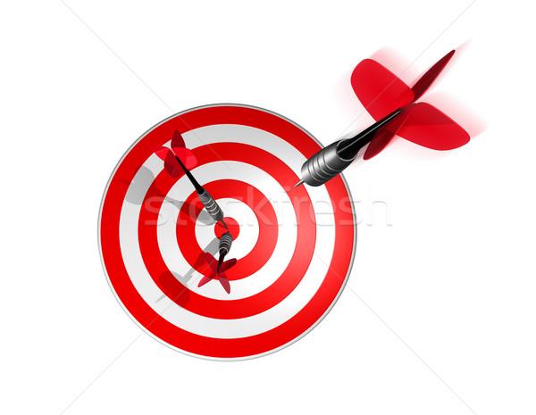 3D darts helyes cél központ háromdimenziós Stock fotó © daboost