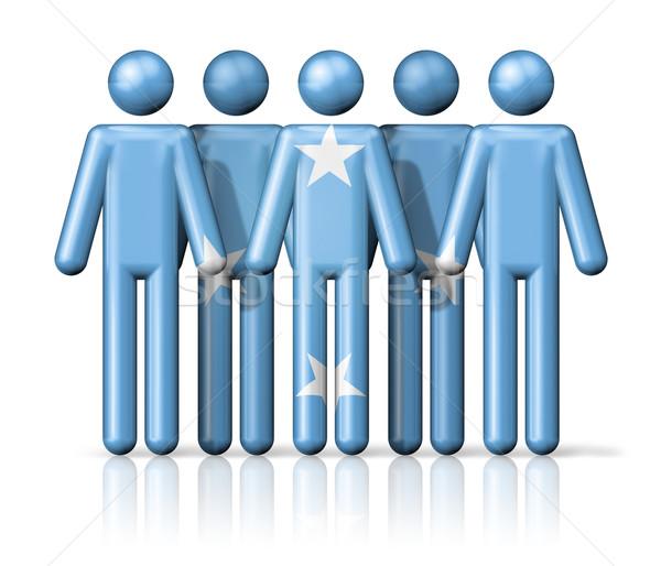 Bandeira Micronésia social comunidade símbolo Foto stock © daboost