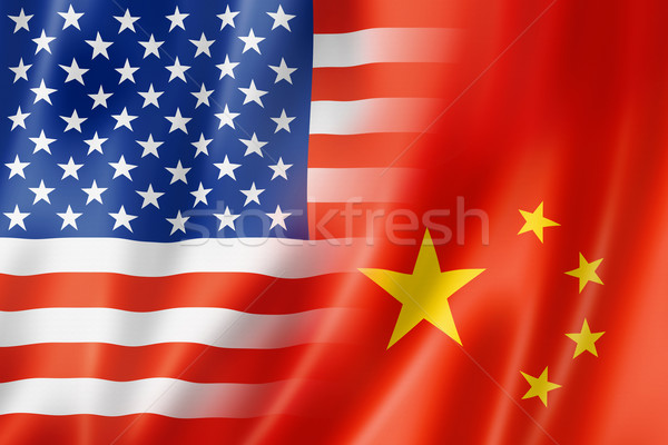 USA and China flag Stock photo © daboost