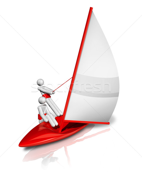 Sailing 3D symbol Stock photo © daboost