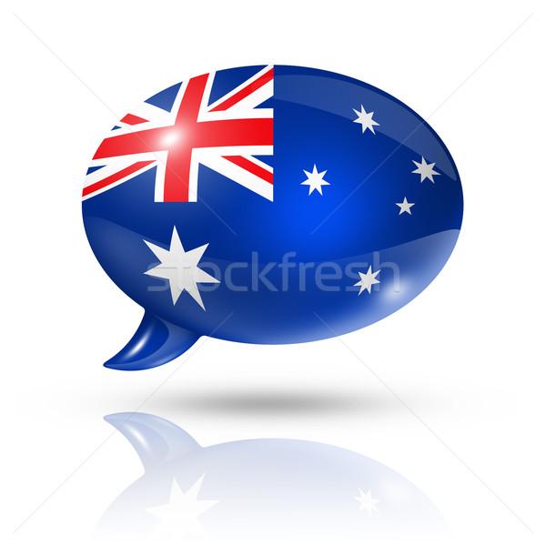 Сток-фото: австралийский · флаг · речи · пузырь · Австралия · изолированный