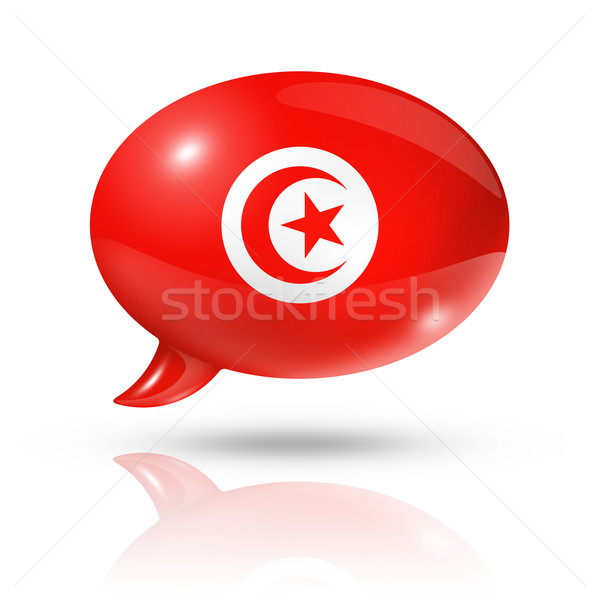 Tunisian flag speech bubble Stock photo © daboost